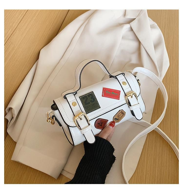 Women's black bag wholesale nihaojewelry new Korean version of the wild messenger bag retro shoulder bag fashion texture handbag NHTC213085