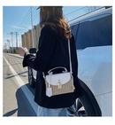 Women39s bag wholesale nihaojewelry new wave Korean woven crossbody bag fashion straw handbag NHTC213090
