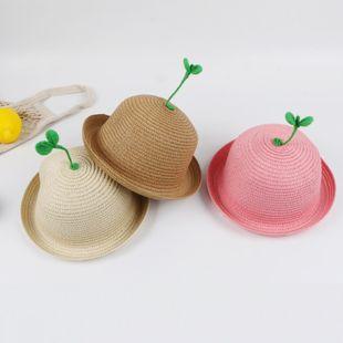 Primavera y verano sombrero para el sol del bebé delgado lindo súper lindo niño sombrero de paja sombrero para el sol niño NHTQ206914's discount tags