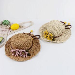 Sombrero de paja playa playa viaje sombrilla sombrero de sol sombrero de vacaciones coreano plegable sombrero de playa NHTQ206919's discount tags