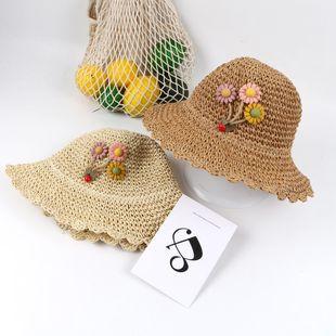 Aleros de verano, visera, sombrero de paja, niña, coreano, playa, sombrero para el sol NHTQ206920's discount tags