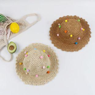 Sombrero de paja sombrero de verano femenino sombrero de playa protección solar pequeña versión coreana fresca de la cara viaje sombrero de sol salvaje sombrero de sol NHTQ206922's discount tags