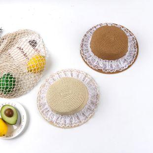 Nueva moda sombrero de paja protector solar playa sombrero para el sol sombrero de sol fresco playa verano sombrero grande sombrero de ala al por mayor NHTQ206927's discount tags