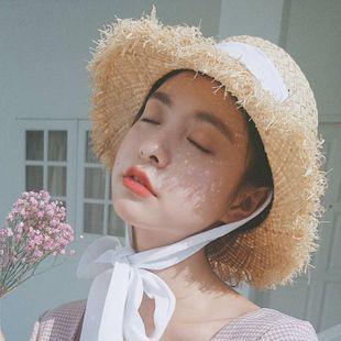 Sombra de verano sombrero de paja protector solar sombrero para el sol grande a lo largo del sombrero de playa al por mayor NHTQ206928's discount tags