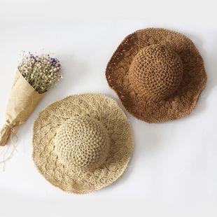 Nuevo gancho de mano coreano sombrilla sombrero de playa sombrero de paja sombrero de sol de verano NHTQ206929's discount tags