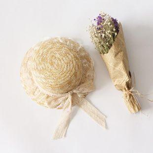 Sombrero de paja de encaje de verano nuevo sombrero de paja salvaje sombrero de sol al aire libre NHTQ206930's discount tags