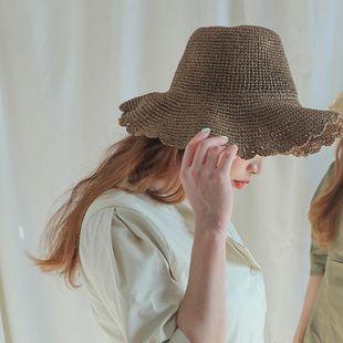 Sombrero damas verano hecho a mano sombrero de ala grande padre-hijo nuevo ocio al aire libre sombrero para el sol sombrero para el sol playa sombrero fresco NHTQ206931's discount tags