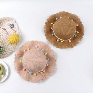 Verano nueva moda sombrero ola borde color paja sombrero hembra aleros grandes sombrero para el sol NHTQ206939's discount tags