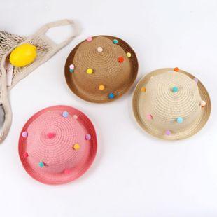 Sombrero de albóndigas para niños, hombres y mujeres, sombrero de paja para bebés, sombrero de sol de verano NHTQ206940's discount tags