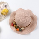 Proteccin solar de verano princesa sombrero de playa en el extranjero sombrero de sol nia sombrero de paja sombrero de sol sombrero de pescador de beb NHTQ206941