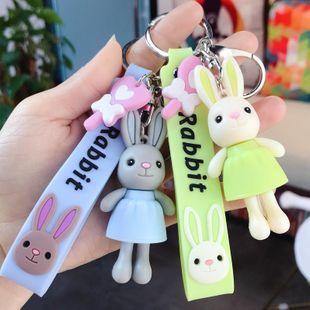Creativo lindo conejo de dibujos animados llavero ballet conejo llavero bolsa bolso colgante accesorios al por mayor NHBM206967's discount tags