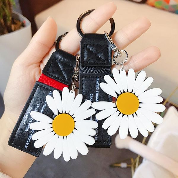 Acrylic Daisy Leather Rope Korean Trend Key Chain Bag Bag Pendant Wholesale NHBM206972