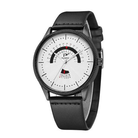 Reloj de cinturón de moda para hombre, esfera grande, caja negra, reloj de cuarzo para hombre, venta al por mayor NHSY207031's discount tags