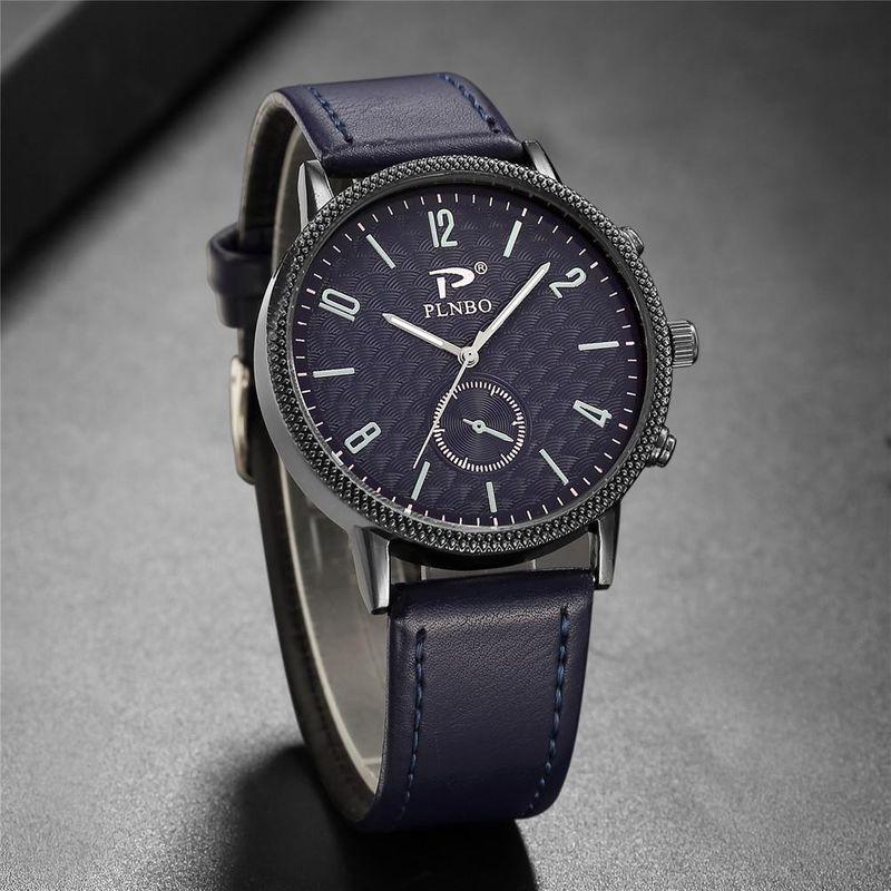 Black Case Concave Quartz Men's Casual Watch Simple British Style Watch NHSY207035