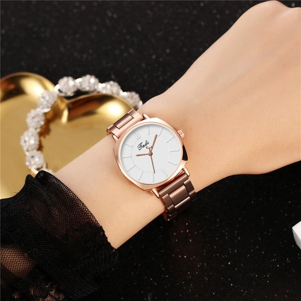New Watch Women Fashion Square Case Ms. Multicolor Lite Alloy Steel Band Watch Women's Quartz Watch Wholesale NHHK207054