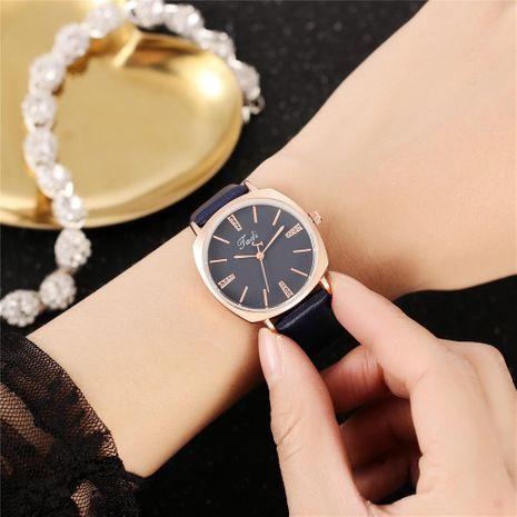 Creativo de segunda mano con incrustaciones de diamantes de imitación literal reloj de cuarzo simple concha cuadrada para mujer reloj de cinturón NHHK207060's discount tags