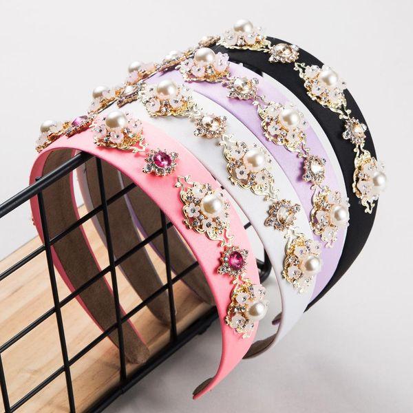 Nueva banda de pelo de diamante barroco Moda flor amplia nupcial Ultra Flash accesorios para el cabello nupcial NHLN207083