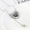 Korean simple and careful heart sweater chain NHPS207004