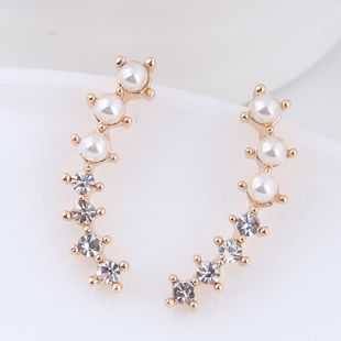 Moda coreana dulce OL salvaje flash pendientes de perlas de diamantes yiwu al por mayor NHSC207153's discount tags