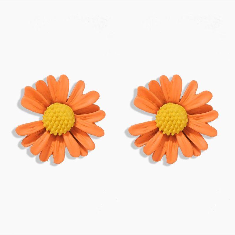 New Fashion Sweet Little Daisy Flowers Wild Earrings Wholesale NHJQ206528