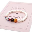 Flor de cristal simple Perlas Perlas Pulsera de perlas barrocas naturales simples NHGW213175
