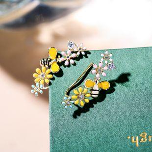 New fashion small flower bee creative earrings cute daisy wild elegant earrings NHPP213200's discount tags