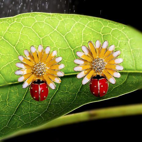New fashion Daisy wild earrings sweet flowers simple earrings wholesale NHPP213203's discount tags
