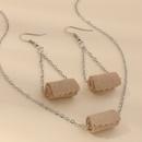 New fashion roll paper earrings PU toilet paper earrings toilet paper earrings nihaojewelry wholesale NHNZ213251