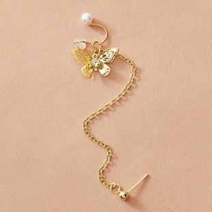 Nueva moda estilo punk pendientes de diamantes clips de oreja sin pendientes perforados nihaojewelry al por mayor NHNZ213254's discount tags