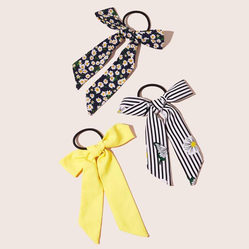 New fashion chic daisy bows cheap scrunchies set wholesale NHNZ213267