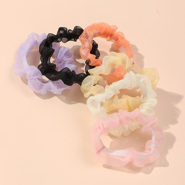 Korean girl's hair accessories sweet and cute pleated mesh hair ring large intestine ring tie hair ball hair rope wholesale NHNZ213272
