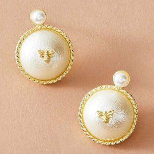 New fashion pearl bee earrings nihaojewelry wholesale NHNZ213274's discount tags