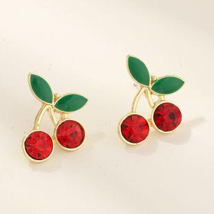 Nueva moda linda fruta cereza pendientes nihaojewelry al por mayor NHNZ213279's discount tags