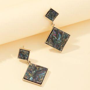 Nueva moda retro pendientes geométricos creativos pendientes de diamantes de concha de abulón nihaojewelry al por mayor NHNZ213283's discount tags