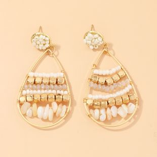 Nueva moda bohemia aretes de cuentas de piedra triturada nihaojewelry al por mayor NHNZ213284's discount tags