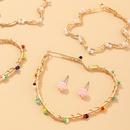 New fashion geometric flowers love earrings handwound rice beads earrings set nihaojewelry wholesale NHNZ213289