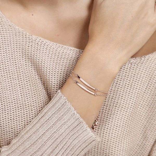 Korean stainless steel jewelry simple word smile bracelet fashion bracelet for women bracelet wholesale yiwu nihaojewelry NHJJ213309