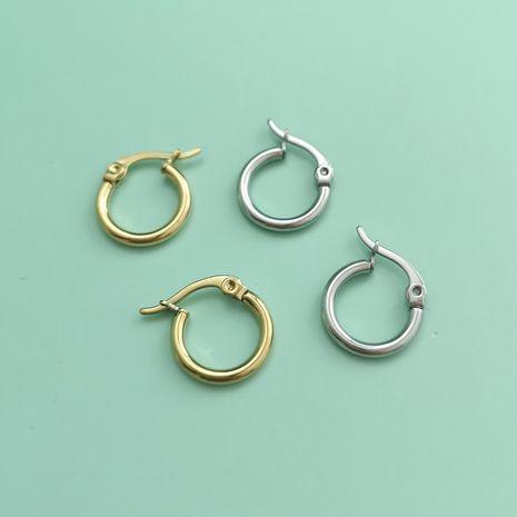 Korean fashion new round hypoallergenic earrings stainless steel earrings nihaojewelry wholesale NHJJ213319's discount tags