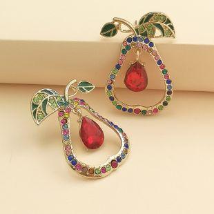 Nueva moda pendientes de pera lindos pendientes de aleación de diamantes nihaojewelry al por mayor NHJJ213321's discount tags