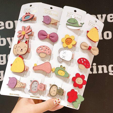 Niños horquilla femenina princesa coreana tocado infantil nihaojewelry horquilla al por mayor flequillo clip bebé lindo accesorios para el cabello NHSA213323's discount tags
