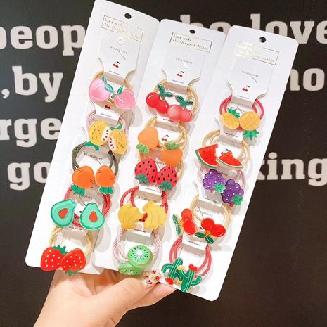 Children's hair accessories nihaojewelry wholesale baby tie hair small rubber band hair ring head rope girl fruit hair rope baby headdress NHSA213330's discount tags