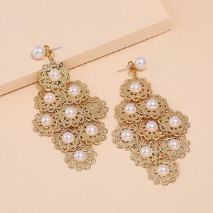 Nueva moda pendientes exagerados estilo palacio retro pendientes de perlas de diamantes nihaojewelry al por mayor NHKQ213352's discount tags