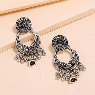 Nueva moda retro pendientes de estilo étnico exagerados simples pendientes geométricos huecos al por mayor nihaojewelry NHKQ213354's discount tags