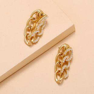 Nueva moda coreana perla pendientes geométricos pendientes de metal salvaje nihaojewelry al por mayor NHKQ213358's discount tags