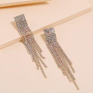 Pendientes largos de borla de moda pendientes de diamantes de imitación simples nihaojewelry al por mayor NHKQ213359's discount tags