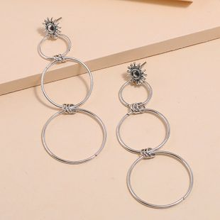 Nuevos pendientes de círculo de tamaño geométrico simple de moda pendientes largos exagerados salvajes NHKQ213363's discount tags