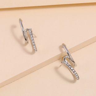 Coreanos nuevos pendientes geométricos simples moda exagerada salvaje pendientes de diamantes de alto grado nihaojewelry al por mayor NHKQ213365's discount tags