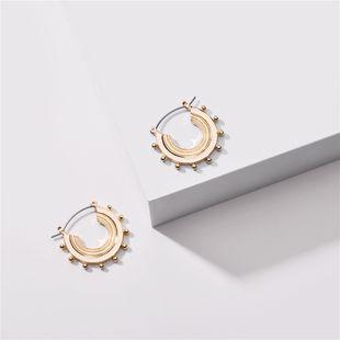 Nuevos pendientes de caracol semicirculares geométricos para mujer nihaojewelry al por mayor NHLU213373's discount tags