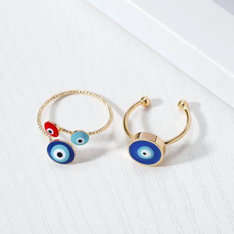 Bijoux de mode original Turc bleu oeil anneau réglable goutte à goutte net rouge anneau diable oeil anneau en gros yiwu nihaojewelry NHGO213382's discount tags