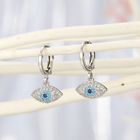 Fashion jewelry micro-set eyes earrings Turkish blue eyes zircon earrings delicate diamond earrings wholesale yiwu nihaojewelry NHGO213388's discount tags